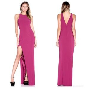 JAY GODFREY Ford Gown Evening Dress Thigh Slit